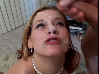 Young girl, bukkake, sperm lover, cum on face