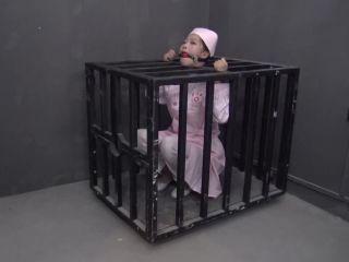 rope bondage shibari ballgag blindfold nurse cage