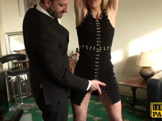Bound brtish bdsm sub facefucked by maledom