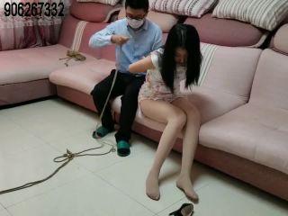 Asian Girls Bound and Gagged china rope bondage shibari blindfold vibrator