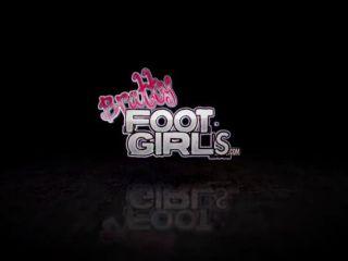 Bratty Foot Girls Facesat Under British Double Booty