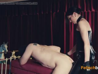 Goddess Amanda deep in slave's ass