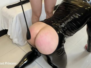 Spanking my Slave's Ass Foot Worship little Foot Princess