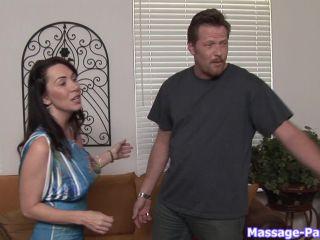 Massage - Alia Janine Brunette, Big Tits, Blowjob