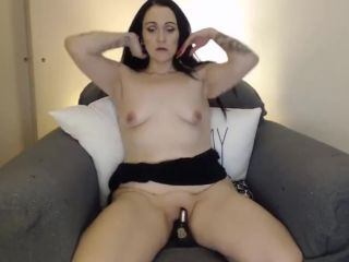 ing mom salem with saggy tiny tits rides dildo