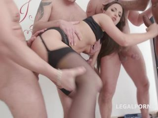 Kristy Black Lesson #1 4on1 Anal DAP TP GAPES Creampie To Glass Swall ...