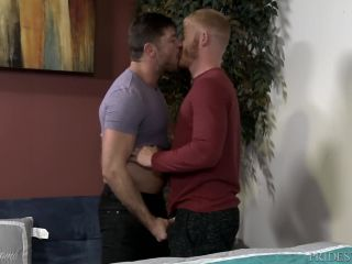 Menover30 hairy jack's first hookup with a ginger stud!