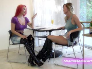THE MEAN GIRLS - Goddess Chanel, Goddess Harley - Humbler Ball Whackin!!!