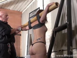 Crucified. Lexy punished