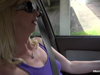 Blonde mom BTS flashing