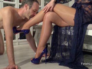 Fetish Liza - Morning Pantyhose Footjob, leg fetish porn on pov