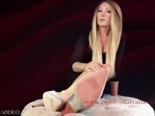 femdom dentist femdom porn | Shiny soles – Goddess Tatyana – Foot Sissy: Dildo Training | highly arched feet