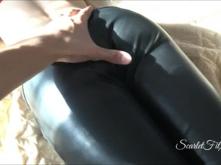 Sexy Scarletfitxx Stepsister In Leather Pants Said She Has No Underwea ...