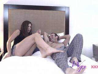 Online Tube Ivy Secret gives her Brother the best FootJob Ever! - handjob and footjob