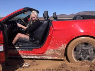 Simone stuck in mud