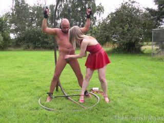 Theenglishmansion – Mistress Sidonia – Alfresco CBT Part 1 | ball stomping | fetish porn hairy femdom