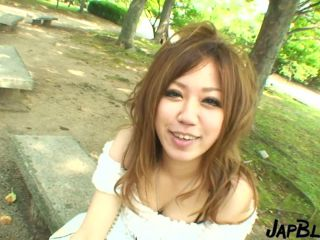 Outdoor pick up in japan leading to a facial