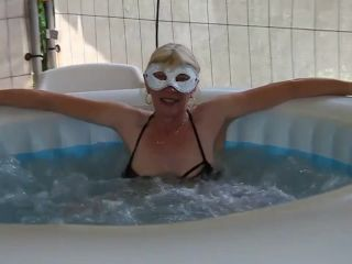 German old mature gets deep fisted from husband in the jacuzzi