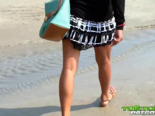 It this small tittied thai girl on the beach and then fucked her