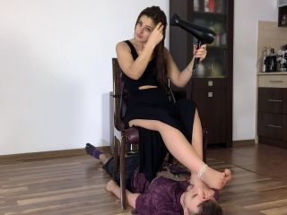 Polish Mistress Clips: Tamara Dry Her Hair | human furniture | fetish porn gay rubber fetish