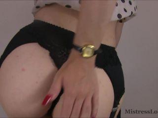 Mistress Lola Ruin - You Are My Panty Slave - masturbation instruction on bdsm porn