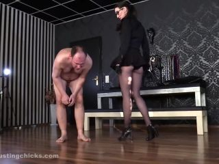 Ball Busting Chicks - Victoria Valente - Kicked in the Balls after Caning Session