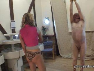 Princess Brook — Mercilessly whipping tied up slave on bdsm porn amirah adara femdom