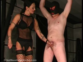 BallBustingChicks - Cock And Balls Tortured Like Hell on fetish porn cruel femdom