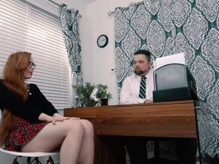 Pervert fat principal spanks and fucks trans schoolgirl Shiri