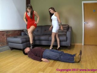 Brat Princess - Natalya, Sasha - Submissive Doormat!!!