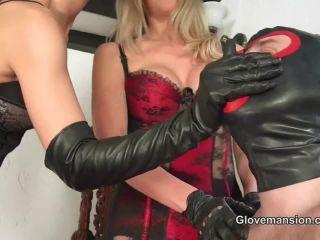 Glove Mansion - Fetish Liza, Nikki Whiplash - Slave To Our Leather Gloves (Parts 1-2) | gloves | feet porn sock fetish porn