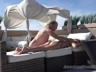 – Goddess Platinum – Tanning Oil Slave, maitresse madeline femdom on femdom porn