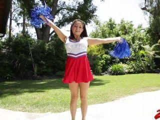Charity bangs creampied cheerleader!
