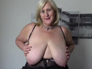 Horny big tit stepmom loves fingering herself in pantyhose and fis stockings