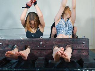 RussianFetish - Polina and Ameliya - crazy tickling in stocks girl vs girl!!!