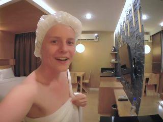 Porn online Alexandra Codefuck - After Shower Blonde Russian Teen Dirty Talk & Masturbate femdom