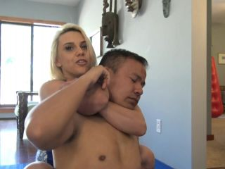 """""""BEATEN AND HUMILIATED"""" (4K UHD) (MIXED WRESTLING, TOPLESS WRESTLING, SCISSORHOLD, HUMILIATION)"""