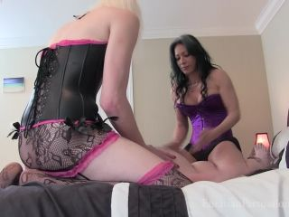 Femdom – Vancouver Kinky Dominatrix – Ball Battered Ass Pleaser – Miss Jasmine and TS Staci - ballbusting - shemale porn pony fetish