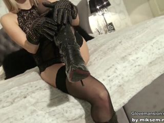 femdom bi fetish porn | Glove Mansion – Hot for her black leather gloves | nesty xxx