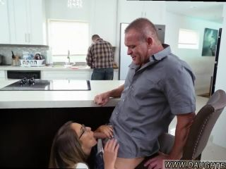 Black dad fucks black daughter and mom plays with daughter and family
