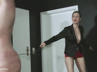 ball busting chicks  mistress victoria valente  whipped by the topless dominatrix  valente