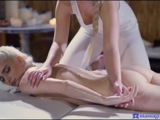 Lovita Fate, Mia Casanova - Pale blonde nymphs lesbian massage