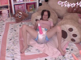 Alyssa Masturbates In Her Extremely Messy Post Enema Diaper
