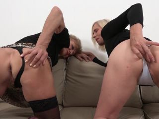 Lilla, Violet – Grannies Interracial BBC Threesome - interracial - cumshot anal squirt
