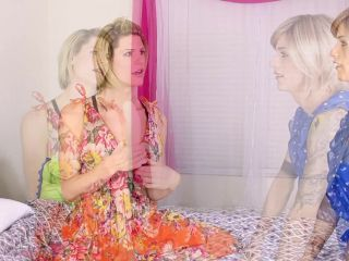 Tsdeviance, Transfinity: Delia DeLions, Nina Lawless - All in the Family: Delia DeLions teaches Nina Lawless about Birds Bees Part 1  | bareback | hardcore porn blonde hard sex