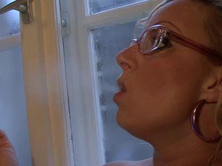 Silvia hot MILF at home, encasement fetish on smoking