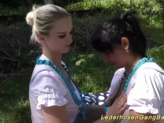 sexy german dirndl girls in a wild oktoberfest lederhosen groupsex party orgy