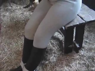 Porn tube Rebecca  Stable Tied  03-May-2014