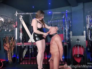 The English Mansion: Mistress Evilyne - Humiliating Strapon Facial - Part 1   mistress evilyne   fetish porn mistress fetish