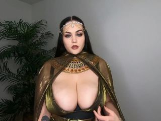 Athena Blaze - Big Tit Goddess JOI, neck fetish porn on big tits